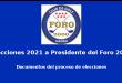 Elecciones 2021 a Presidente del Foro 2000